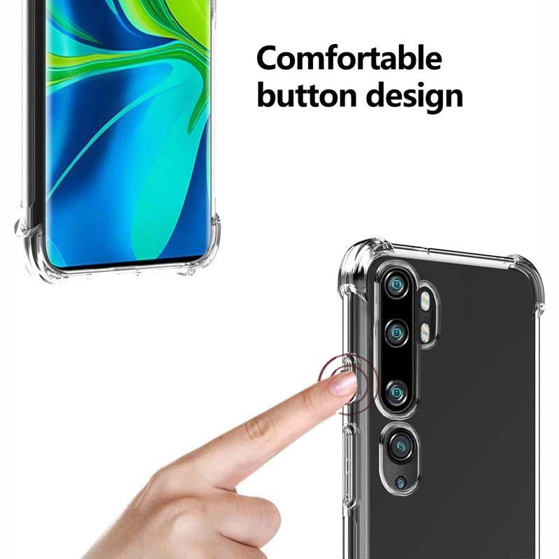 قاب محافظ ژله ای کپسول دار 5 گرمی شیائومی Clear Tpu Air Rubber Jelly Case For Xiaomi Mi CC9 Pro Mi Note 10 Mi Note 10 Pro