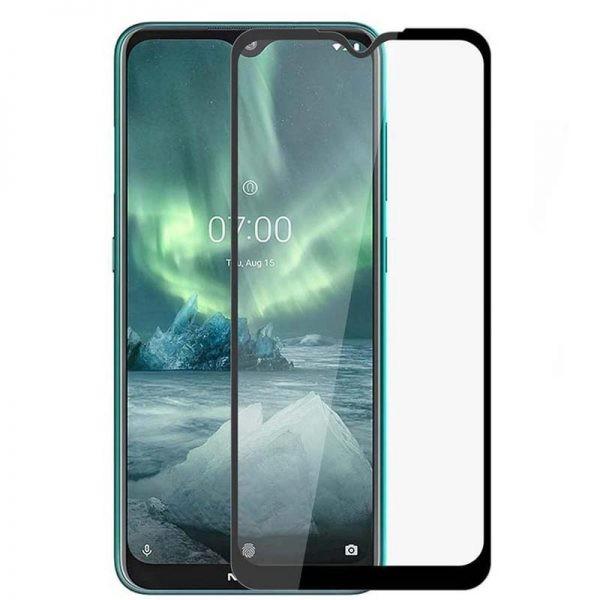 محافظ صفحه نمایش تمام چسب با پوشش کامل نوکیا Full Glass Screen Protector For Nokia 2.3