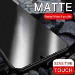 محافظ صفحه نمایش مات تمام چسب با پوشش کامل شیائومی Full Matte Glass Screen Protector For Xiaomi Redmi Note 9 Pro Note 9 Pro Max Note 9S