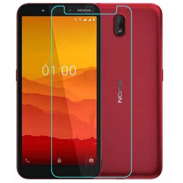 محافظ صفحه نمایش شیشه ای نوکیا Glass Screen Protector For Nokia C1