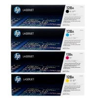 ست کارتریج چهار رنگ اچ پی مدل HP 128A سازگار با پرینترهای اچ پی