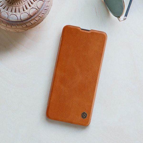 کیف محافظ چرمی نیلکین سامسونگ Nillkin Qin Case For Samsung Galaxy A31