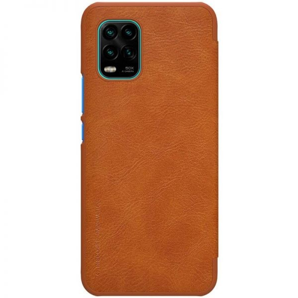 کیف محافظ چرمی نیلکین شیائومی Nillkin Qin Case For Xiaomi Mi 10 Lite 5G Mi10 Youth 5G