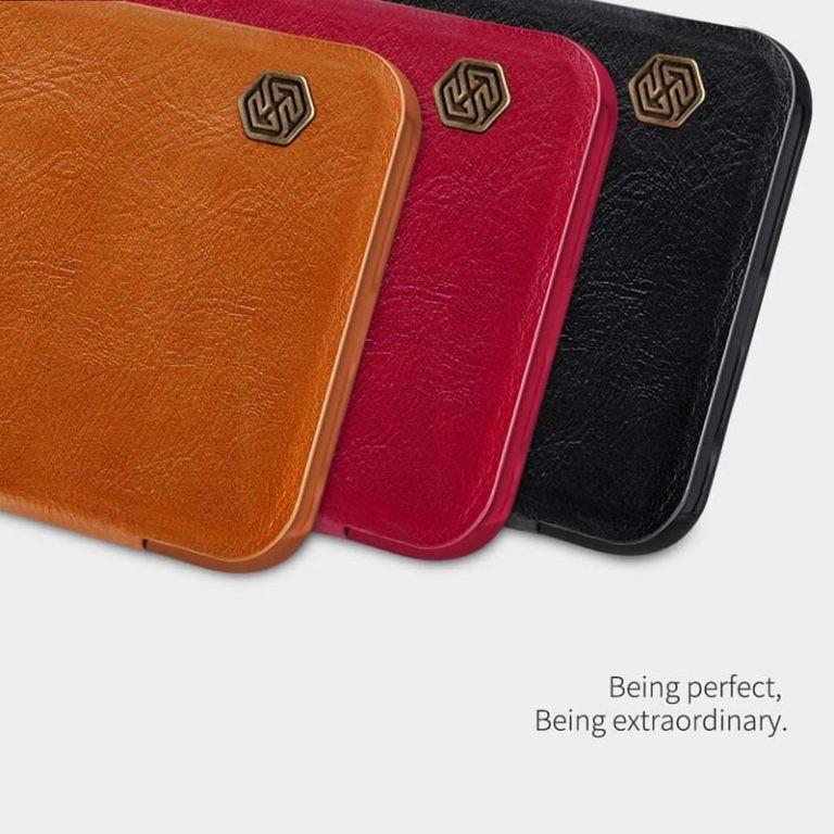 کیف محافظ چرمی نیلکین شیائومی Nillkin Qin Case For Xiaomi Redmi Note 9 Pro Note 9 Pro Max Note 9S