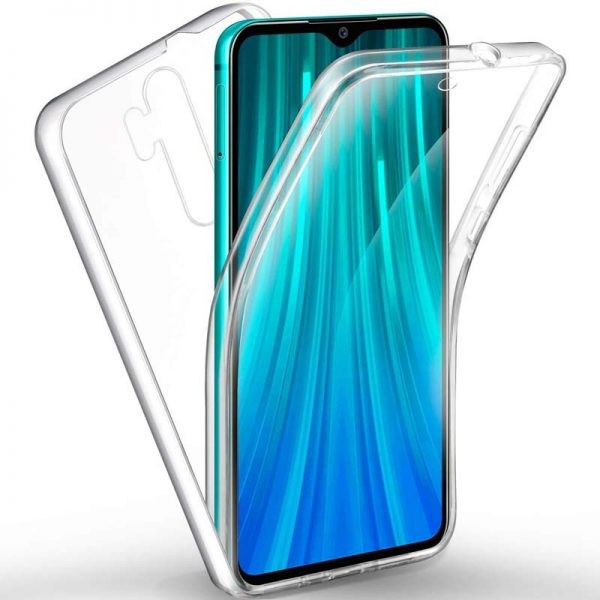 قاب محافظ شفاف 360 درجه شیائومی Soft Clear Ultra Thin 360 Degree Case Xiaomi Redmi Note 8 Pro