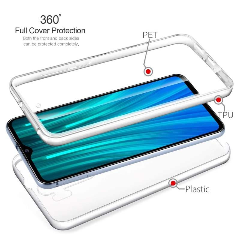 قاب محافظ شفاف 360 درجه شیائومی Soft Clear Ultra Thin 360 Degree Case Xiaomi Redmi Note 8 Pro