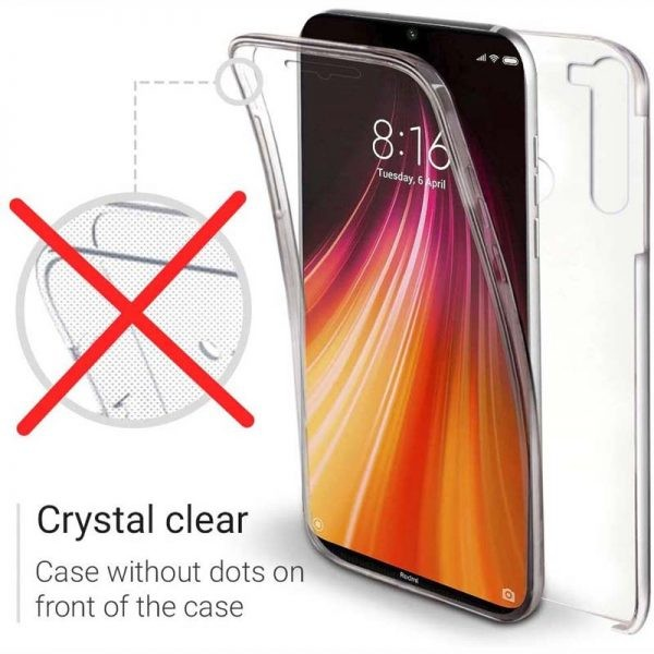 قاب محافظ شفاف 360 درجه شیائومی Soft Clear Ultra Thin 360 Degree Case Xiaomi Redmi Note 8T