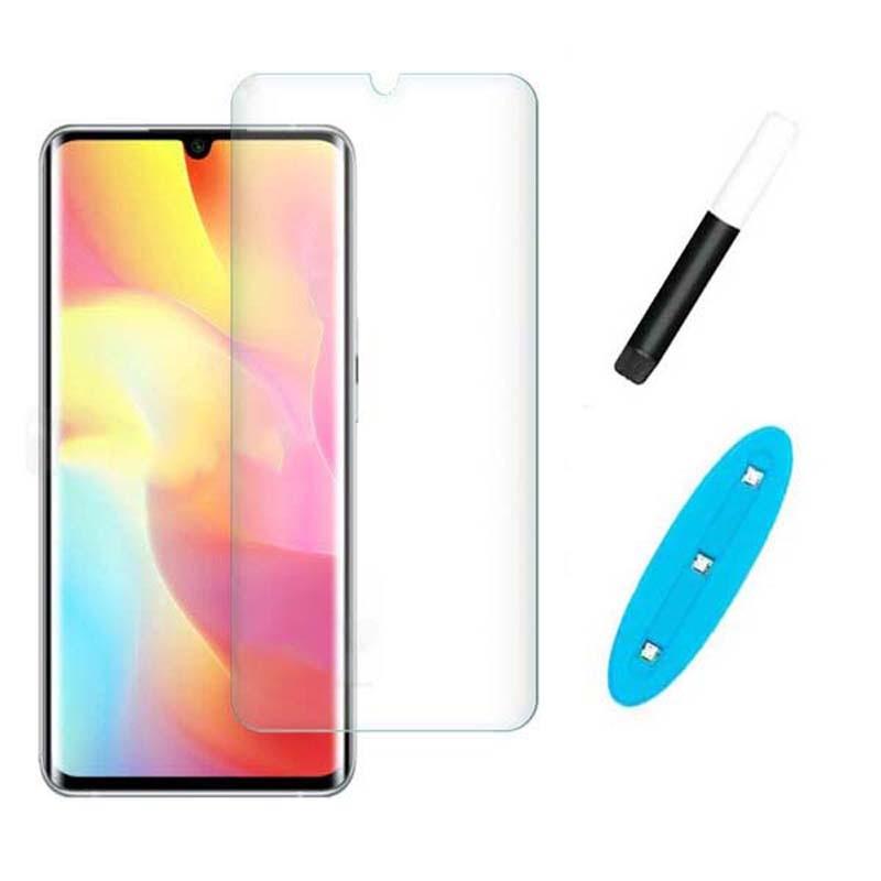 محافظ صفحه شیشه ای تمام صفحه و خمیده یو وی شیائومی UV Full Glass Screen Protector Xiaomi Mi Note 10 Lite
