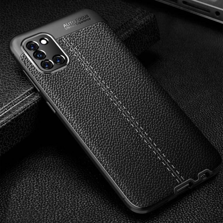 قاب ژله ای طرح چرم سامسونگ Auto Focus Jelly Case For Samsung Galaxy A31