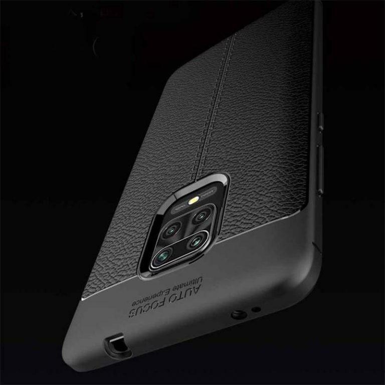 قاب ژله ای طرح چرم شیائومی Auto Focus Jelly Case For Xiaomi Redmi Note 9 Pro Note 9 Pro Max Note 9S