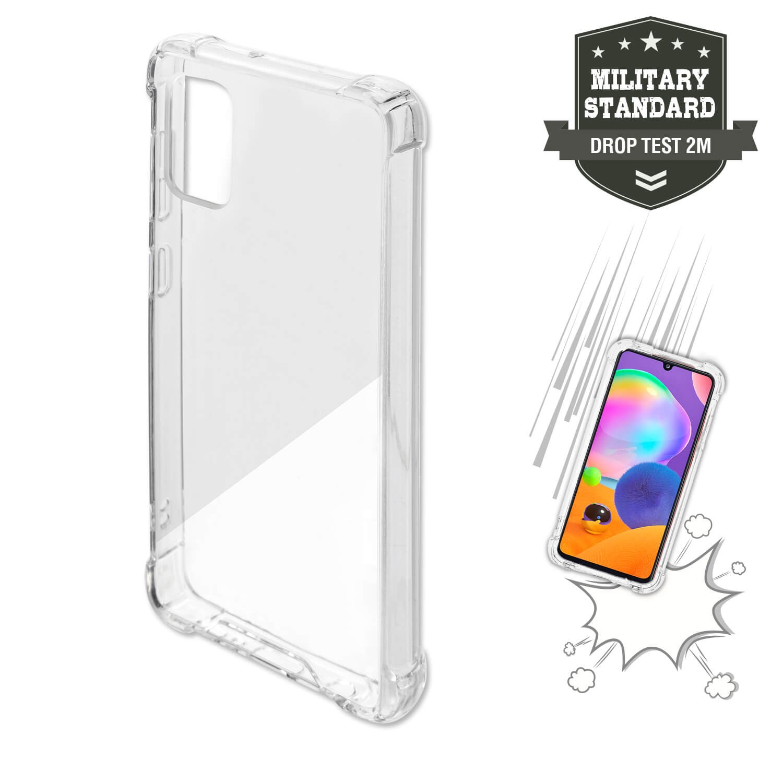 قاب محافظ ژله ای کپسول دار 5 گرمی سامسونگ Clear Tpu Air Rubber Jelly Case For Samsung Galaxy A31