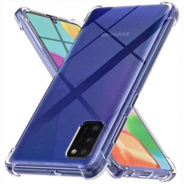 قاب محافظ ژله ای کپسول دار 5 گرمی سامسونگ Clear Tpu Air Rubber Jelly Case For Samsung Galaxy A41