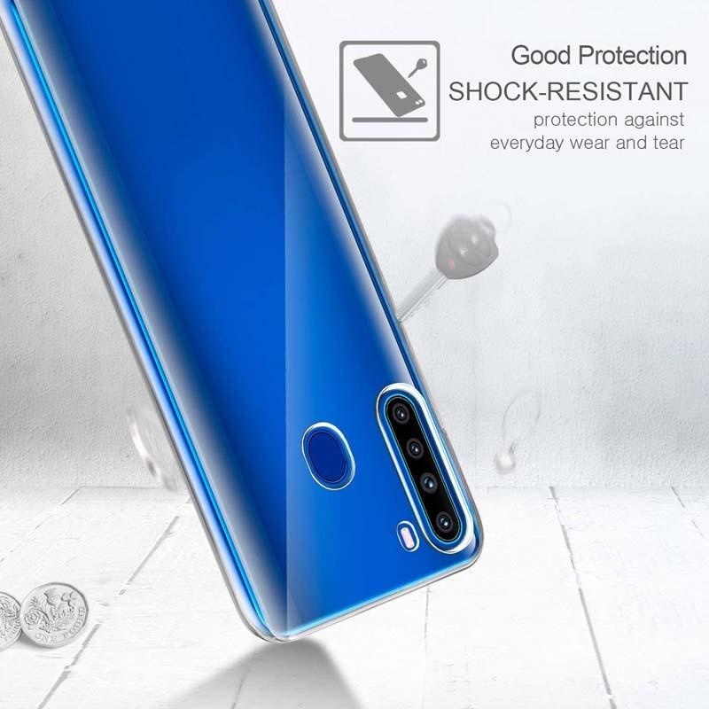 قاب محافظ ژله ای 5 گرمی کوکو سامسونگ Coco Clear Jelly Case For Samsung Galaxy A21