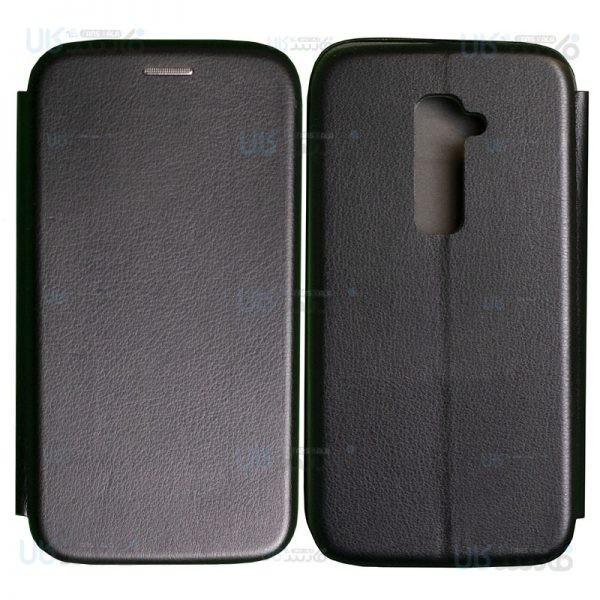 کیف محافظ چرمی ال جی Leather Standing Magnetic Cover For LG G2