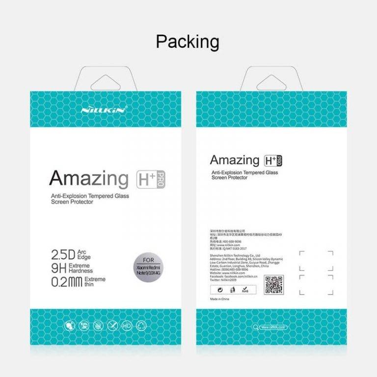 محافظ صفحه نمایش شیشه ای نیلکین شیائومی Nillkin H+ Pro Glass Xiaomi Redmi Note 9 Redmi 10X 4G