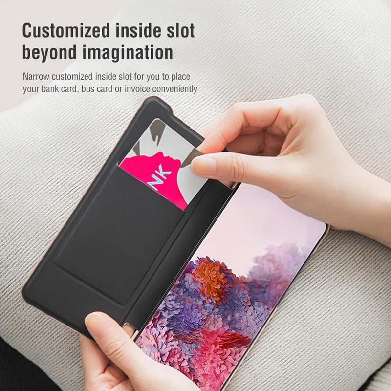 کیف محافظ چرمی نیلکین سامسونگ Nillkin Ming Leather Case Samsung Galaxy S20