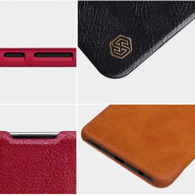 کیف محافظ چرمی نیلکین سامسونگ Nillkin Qin Case For Samsung Galaxy A21s