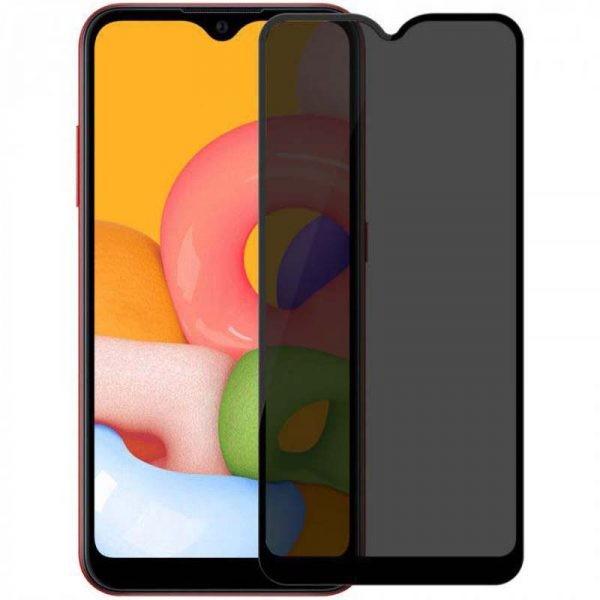 محافظ صفحه نمایش حریم شخصی تمام چسب با پوشش کامل سامسونگ Privacy Full Screen Protector For Samsung Galaxy A01