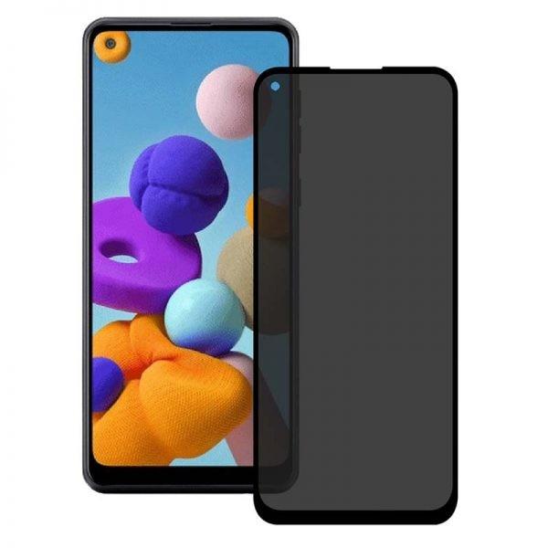 محافظ صفحه نمایش حریم شخصی تمام چسب با پوشش کامل سامسونگ Privacy Full Screen Protector For Samsung Galaxy A21