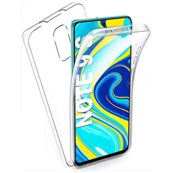 قاب محافظ شفاف 360 درجه شیائومی Soft Clear Ultra Thin 360 Degree Case Xiaomi Redmi Note 9 Pro / Note 9 Pro Max / Note 9S