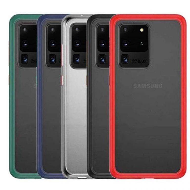 قاب محافظ سامسونگ Transparent Hybrid Case For Samsung Galaxy S20 Ultra