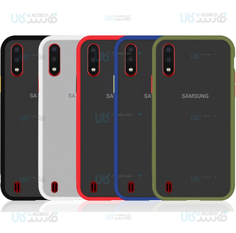 قاب محافظ سامسونگ Transparent Hybrid Case For Samsung Galaxy A01
