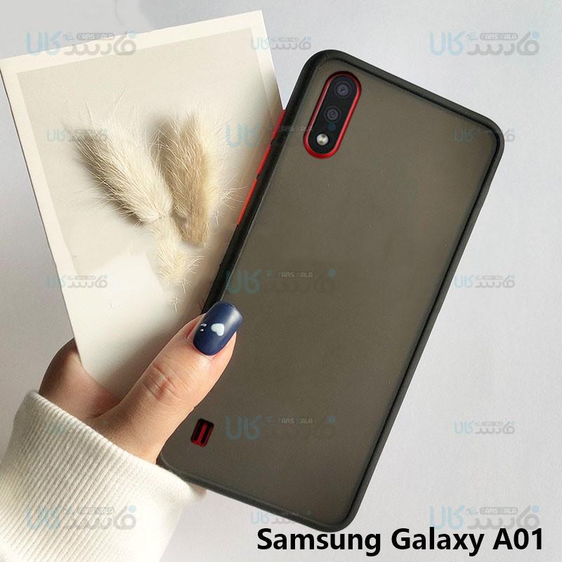قاب محافظ سامسونگ Transparent Hybrid Case For Samsung Galaxy A01