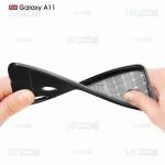قاب ژله ای طرح چرم سامسونگ Auto Focus Jelly Case For Samsung Galaxy A11