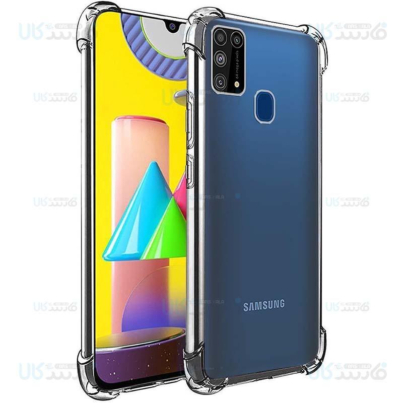 قاب محافظ ژله ای کپسول دار 5 گرمی سامسونگ Clear Tpu Air Rubber Jelly Case For Samsung Galaxy M31