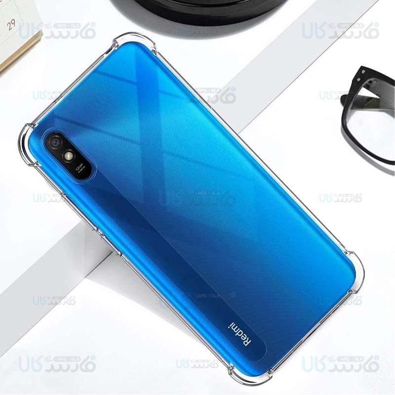 قاب محافظ ژله ای کپسول دار 5 گرمی شیائومی Clear Tpu Air Rubber Jelly Case For Xiaomi Redmi 9A