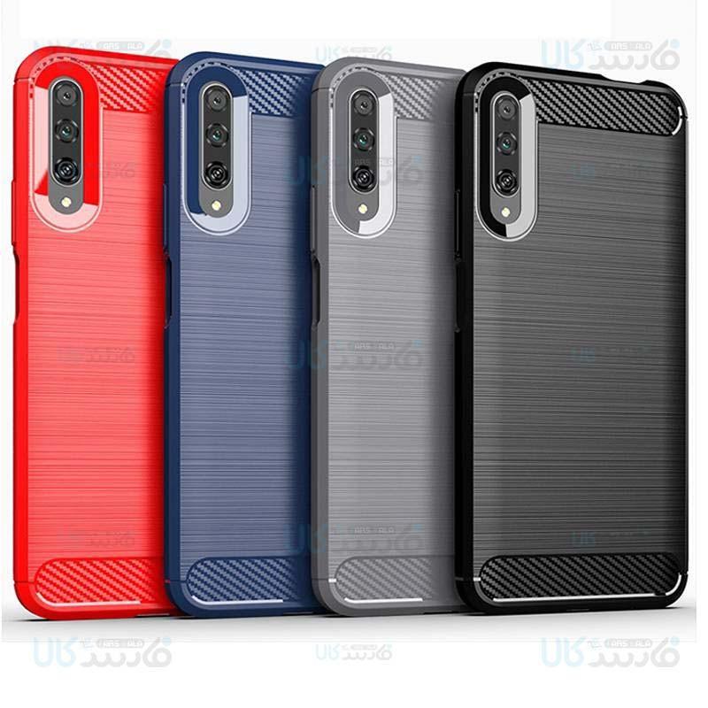 قاب محافظ ژله ای هواوی Fiber Carbon Rugged Armor Case For Huawei Y9s