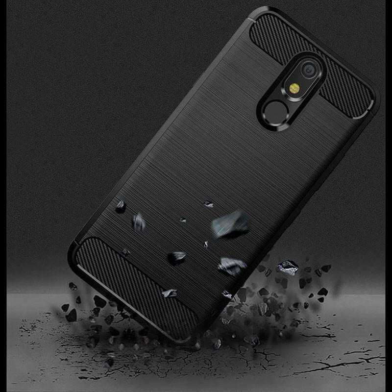 Fiber Carbon Rugged Armor Case For LG K40
