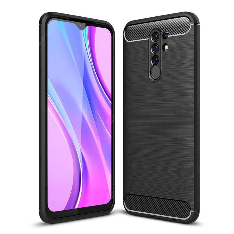 قاب محافظ ژله ای شیائومی Fiber Carbon Rugged Armor Case For Xiaomi Redmi 9