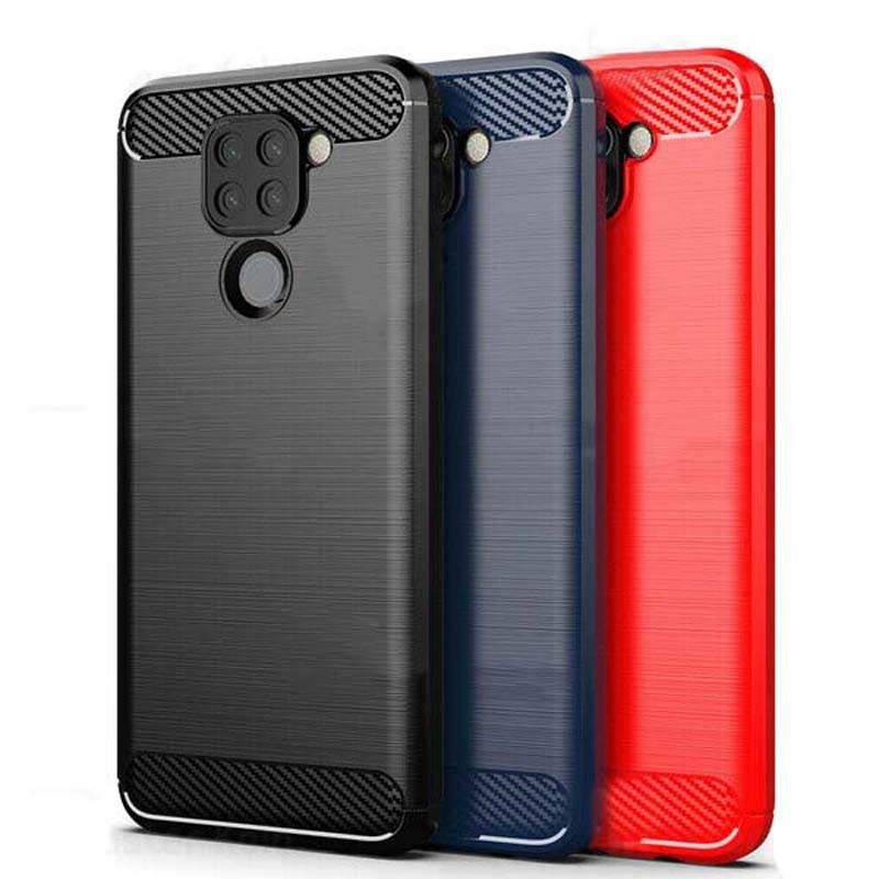 قاب محافظ ژله ای شیائومی Fiber Carbon Rugged Armor Case For Xiaomi Redmi Note 9 Redmi 10X 4G