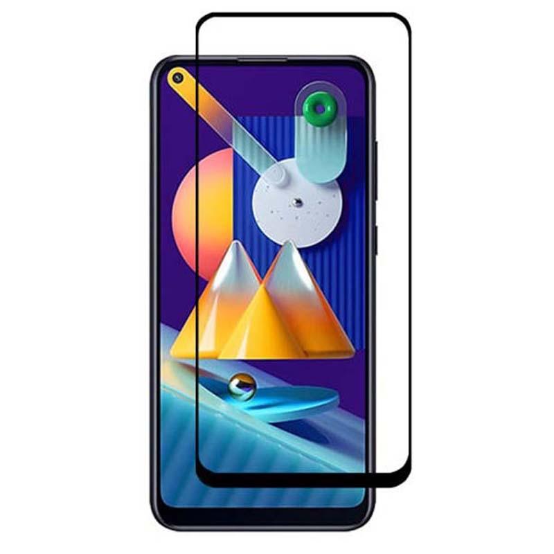 محافظ صفحه نمایش تمام چسب با پوشش کامل سامسونگ Full Glass Screen Protector For Samsung Galaxy M11