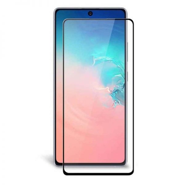 محافظ صفحه نمایش تمام چسب با پوشش کامل سامسونگ Full Glass Screen Protector For Samsung Galaxy S10 Lite 2020