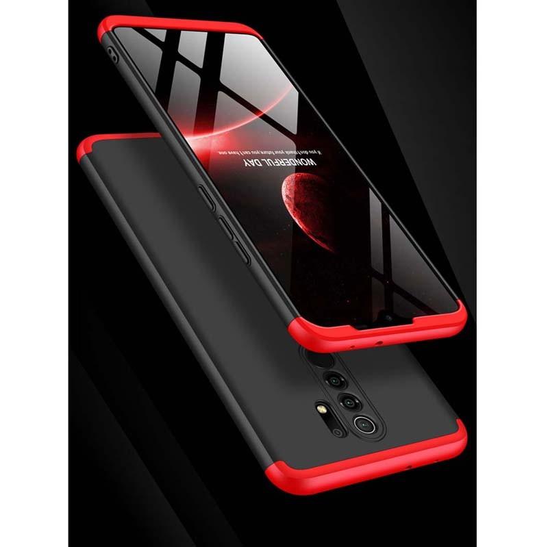 قاب محافظ با پوشش 360 درجه شیائومی GKK Color Full Cover For Xiaomi Redmi 9