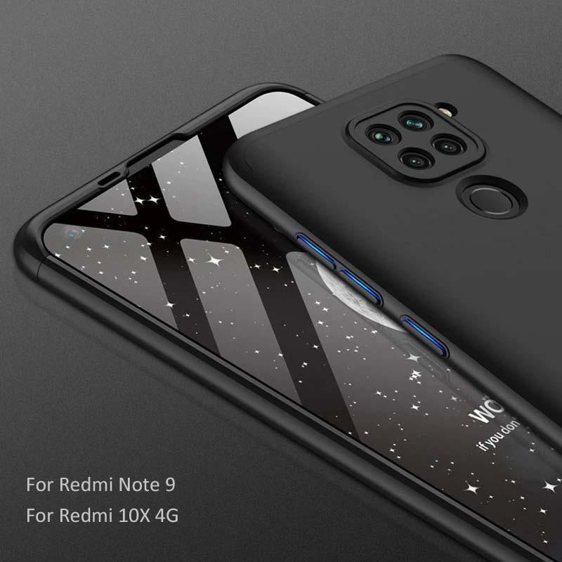 قاب محافظ با پوشش 360 درجه شیائومی GKK Color Full Cover For Xiaomi Redmi Note 9 Redmi 10x 4G