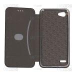 کیف محافظ چرمی ال جی Leather Standing Magnetic Cover For LG Q6