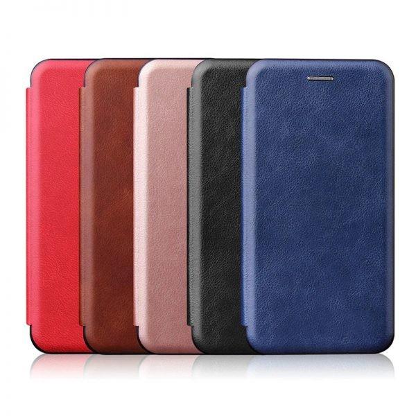 کیف محافظ چرمی سامسونگ Leather Standing Magnetic Cover For Samsung Galaxy A21