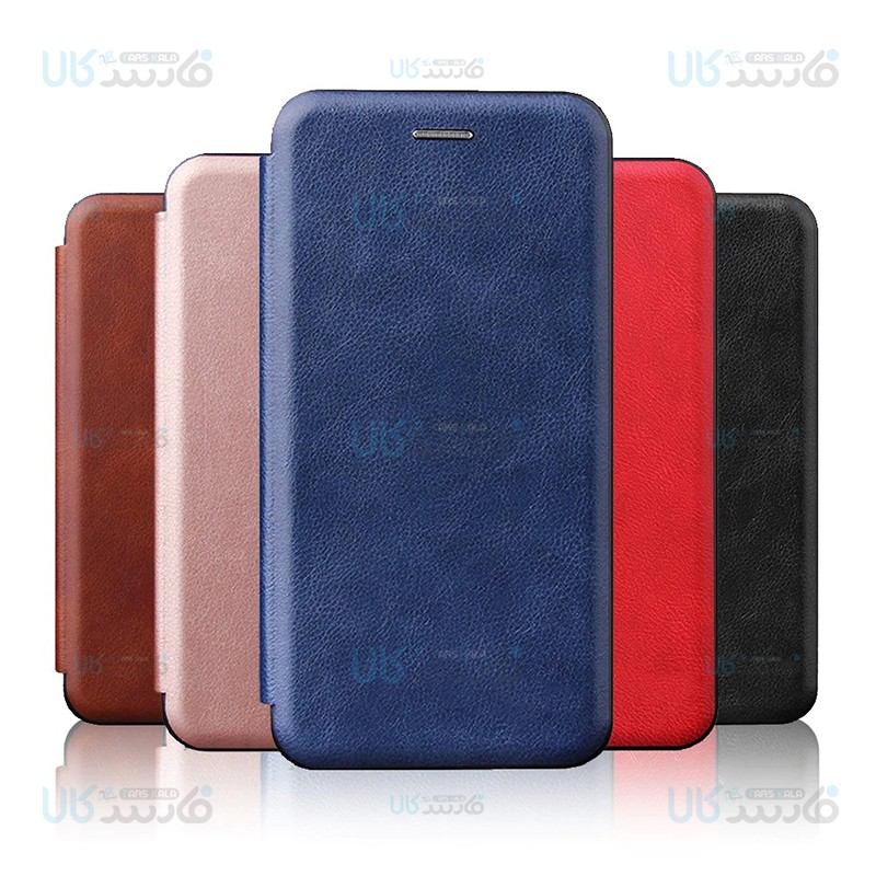کیف محافظ چرمی سامسونگ Leather Standing Magnetic Cover For Samsung Galaxy A21s