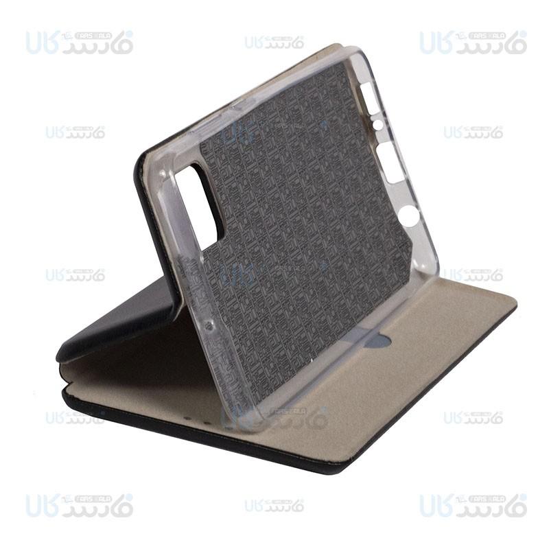 کیف محافظ چرمی سامسونگ Leather Standing Magnetic Cover For Samsung Galaxy A51