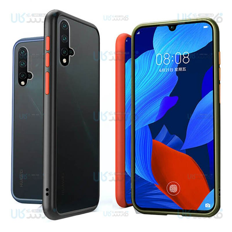 قاب محافظ هواوی Transparent Hybrid Case For Huawei Nova 5T / Honor 20