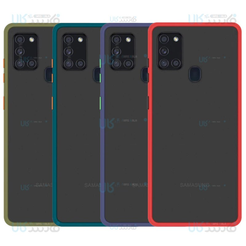 قاب محافظ سامسونگ Transparent Hybrid Case For Samsung Galaxy A21s
