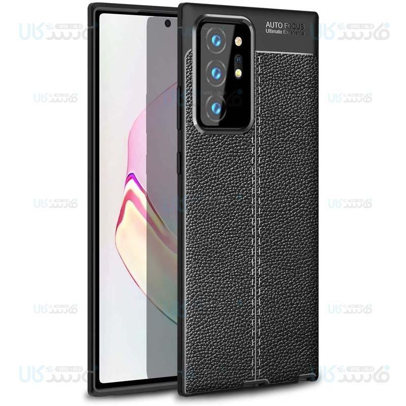 قاب ژله ای طرح چرم سامسونگ Auto Focus Jelly Case For Samsung Galaxy Note 20 Ultra