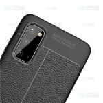 قاب ژله ای طرح چرم سامسونگ Auto Focus Jelly Case For Samsung Galaxy S20