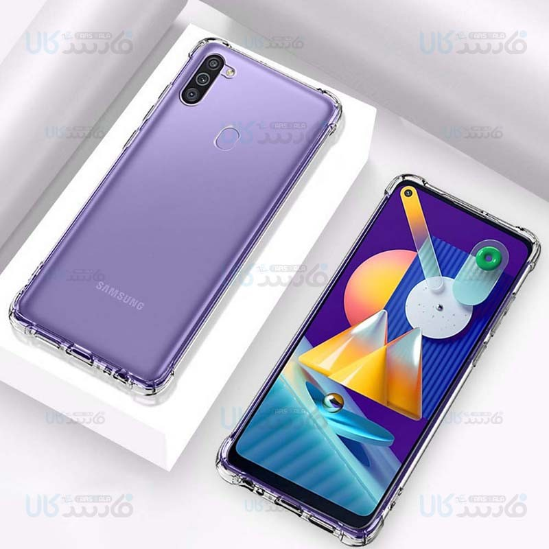 قاب محافظ ژله ای کپسول دار 5 گرمی سامسونگ Clear Tpu Air Rubber Jelly Case For Samsung Galaxy M11