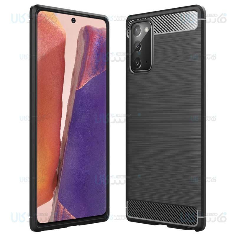 قاب محافظ ژله ای سامسونگ Fiber Carbon Rugged Armor Case For Samsung Galaxy Note 20