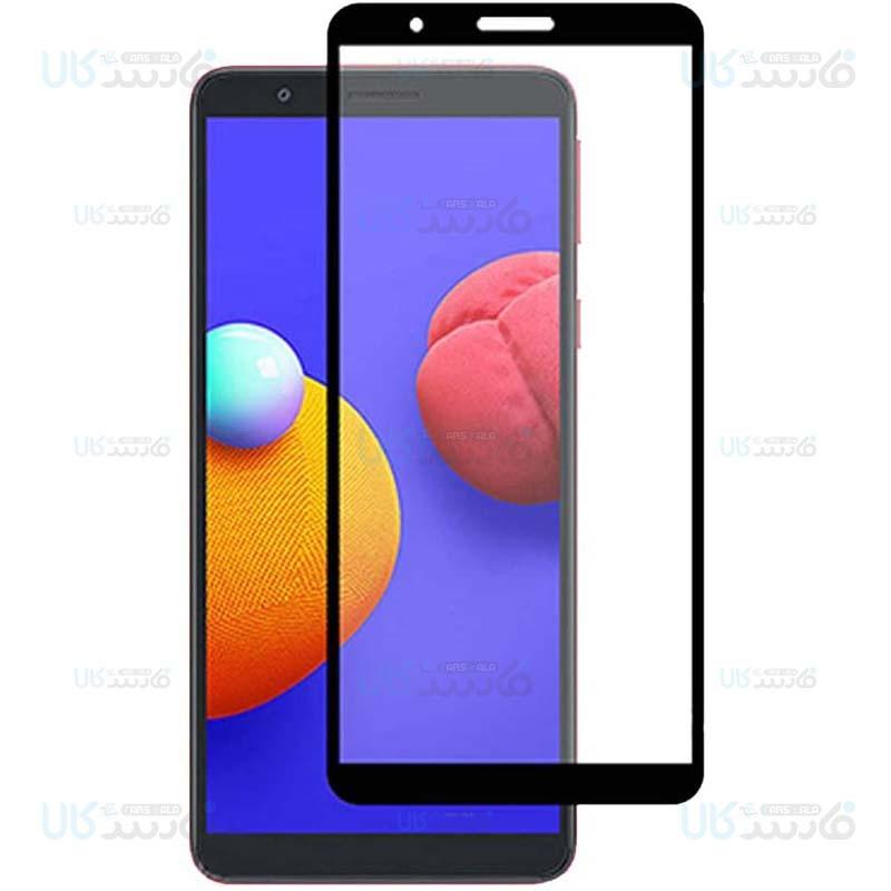 محافظ صفحه نمایش تمام چسب با پوشش کامل سامسونگ Full Glass Screen Protector For Samsung Galaxy A01 Core