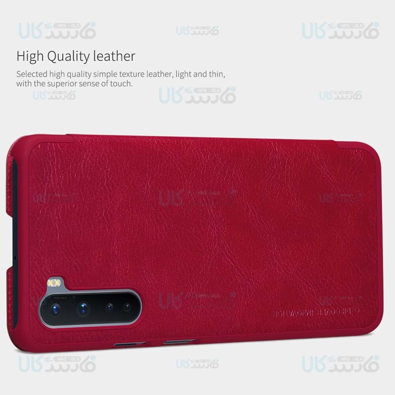 کیف محافظ چرمی نیلکین وان پلاس Nillkin Qin Case For OnePlus Nord